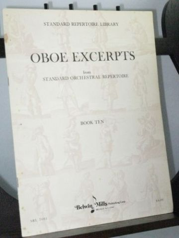 Oboe Excerpts from Standard Orchestral repertoire Book 10
